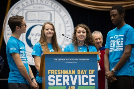 Freshman Day of Service and Convocation 2015