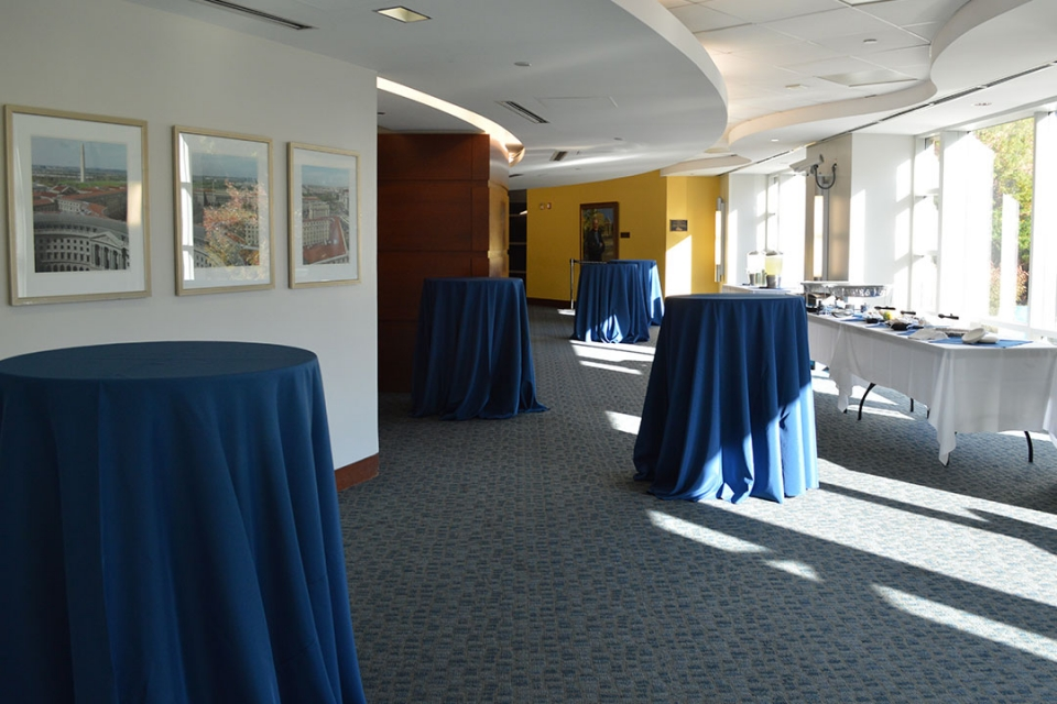 Art Gallery Lobby set for a reception