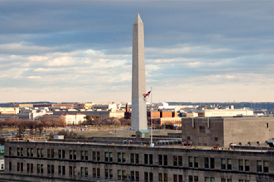 View of the Washington Monument from the City View Room Terrace