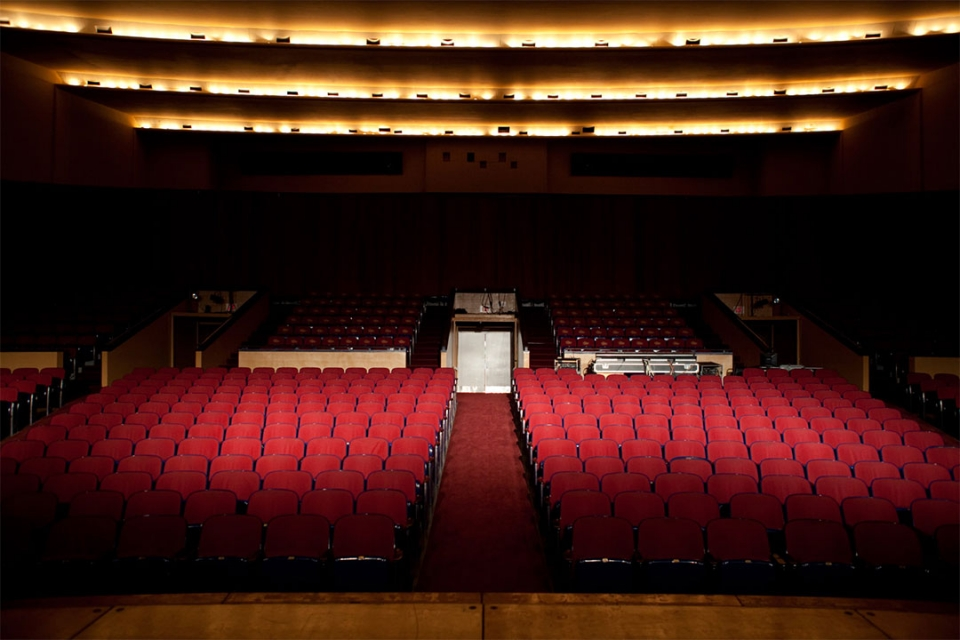Lisner Auditorium view from the stage of seats