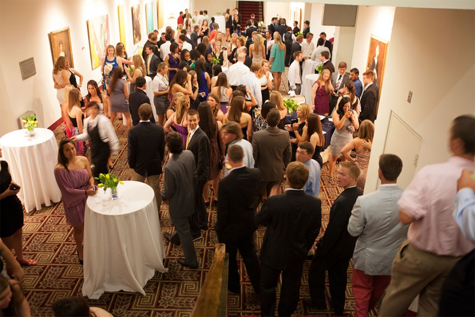 Reception with guests in the Lower Level Lobby of Lisner Auditorium