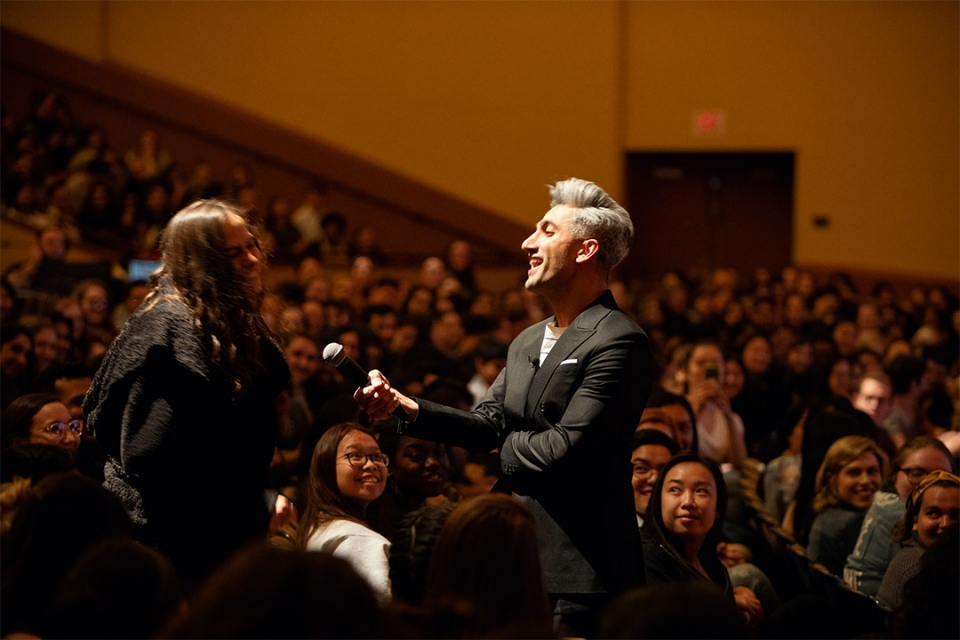Guest speaker with Audience at Lisner Auditorium