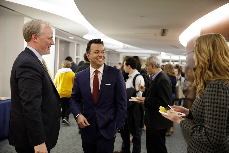 Art Gallery Lobby reception with guests